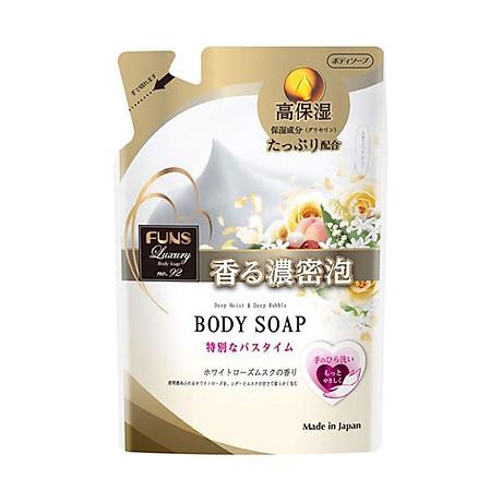 Sữa tắm sáng da Funs Luxury dạng túi tiết kiệm (380ml) - Nội địa Nhật Bản 1