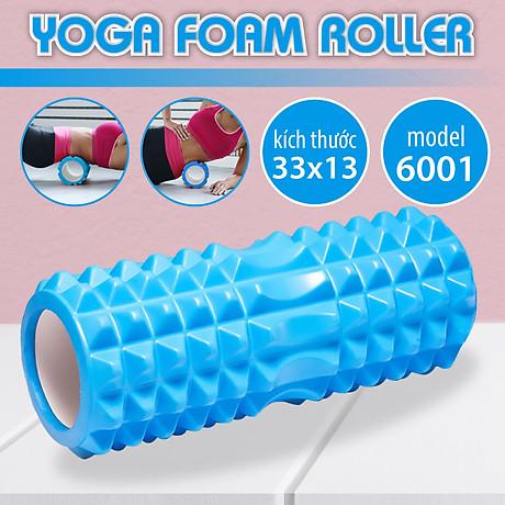 BG Con Lăn Massage Ống Lăn Dãn Cơ Foam Roller Tập Gym, Yoga, Thể Hình (hàng nhập khẩu) BLUE 2