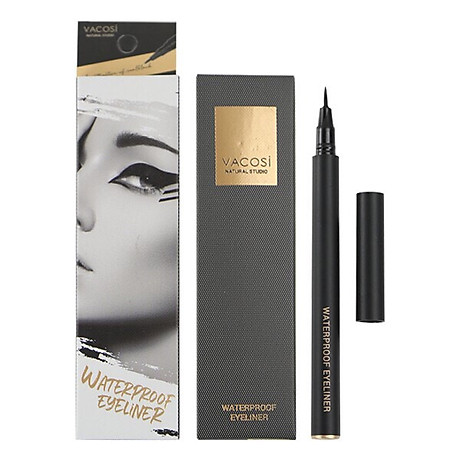 Bút Kẻ Mắt Nước Siêu Lì - Sắc Mảnh Vacosi Waterproof Eyeliner Pen 1