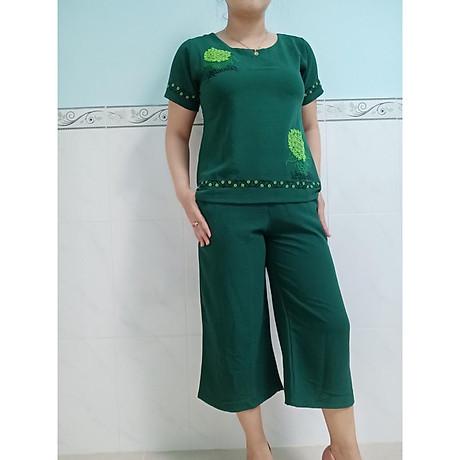 Đồ bộ mặc nhà vải đũi ống rộng lững cao cấp 6