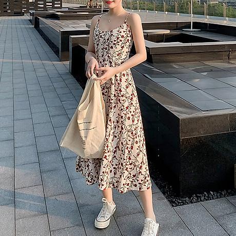 Váy 2 dây dáng dài, chất liệu vải cao cấp nhẹ nhàng thoáng mát,phù hợp đi biển đi chơi ngày hè 5