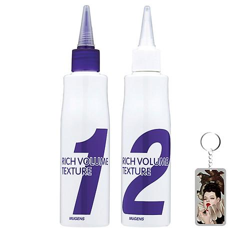 Thuốc uốn tóc đa năng Mugens Rich Volume Hàn Quốc 150ml (Dành cho tóc khoẻ và tóc thường) Tặng kèm móc khoá 1