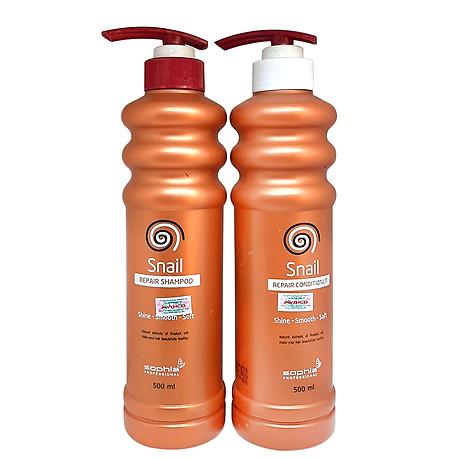 Dầu Gội Siêu Phục Hồi & Lưu Hương Sophia Profesional Snail Repair Shampoo Hàn Quốc 500ml tặng kèm móc khoá 6