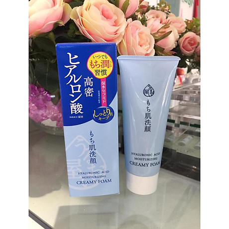 Sữa rửa mặt chống lão hóa Naris Uruoi-ya Hyaluronic Acid Moisturizing Creamy Foam Nhật Bản 100ml + Móc khóa 6