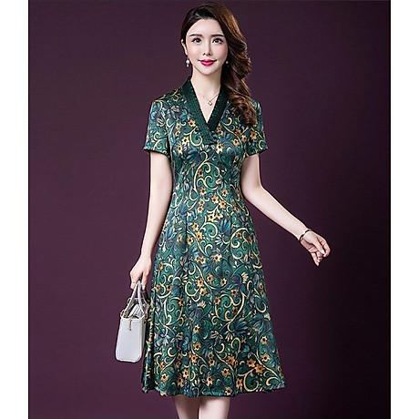 Đầm quý bà lụa Cao Cấp Sang Trọng - HATI DN9046 6