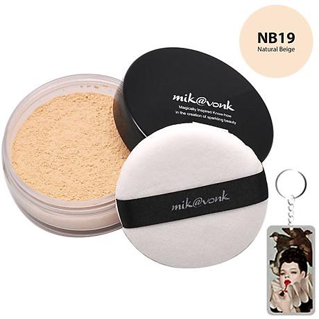 Phấn phủ bột kiềm dầu Mik vonk Blooming Face Powder Hàn Quốc 30g NB19 Natural Beige tặng kèm móc khoá 2