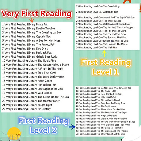 Usborne My First Reading Library - Bộ Xanh 50 cuốn 8
