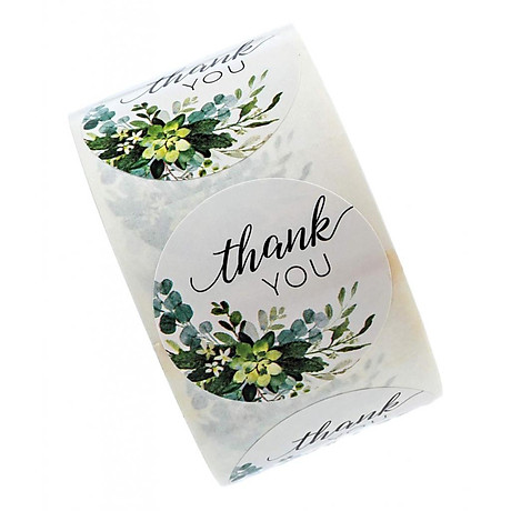 500pcs Per Roll Thank You Sealing Stickers Round Paper Labels Christmas Sticker 5