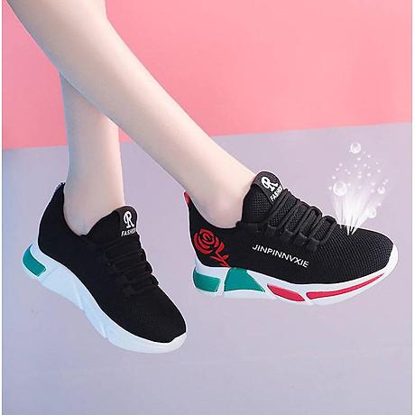 Giày sneaker thể thao nữ buộc dây phong cách hàn quốc màu đen, trắng size 36 đến 40 V179 4