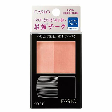 Phấn má hồng Kosé Fasio Water Proof Cheek chống thấm nước nội địa Nhật Bản + Tặng Cafe Dừa Macca 1