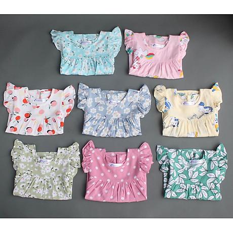 Bộ mặc nhà vải tole lanh tay cánh tiên thoáng mát cho mẹ và bé gái 4