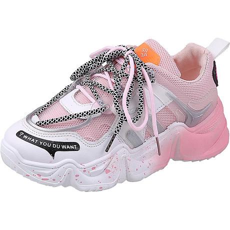 Giầy thể thao nữ Sneaker đế màu cực cá tính 2020 1