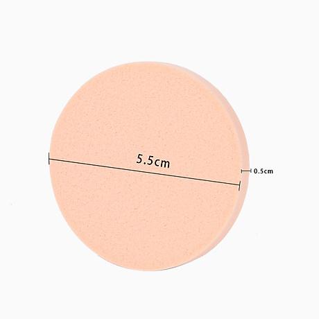Bộ 16 bông mút đánh phấn hình tròn siêu mềm mịn phong cách Hàn Quốc - MN001 3