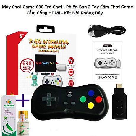 Máy Chơi Game 4 Nút HDMI Chơi Game PS1,Station Trên Tivi,Máy Trò Chơi Điện Tử Không Dây, Máy Game Stick 4K Điện Tử 4 Nút ( Tặng chai dầu tràm hoa nén) giao theo màu ngẫu nhiêni 1