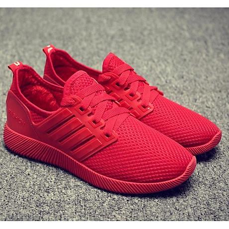 Giày thể thao cặp đôi nam nữ buộc dây C95 đỏ 1