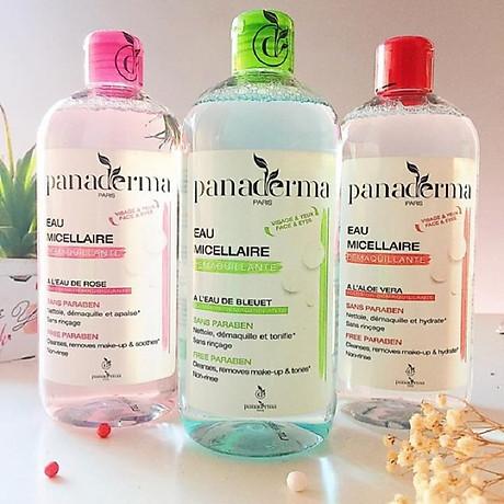 Nước tẩy trang Panaderma 500ml hương việt quất nắp xanh 2