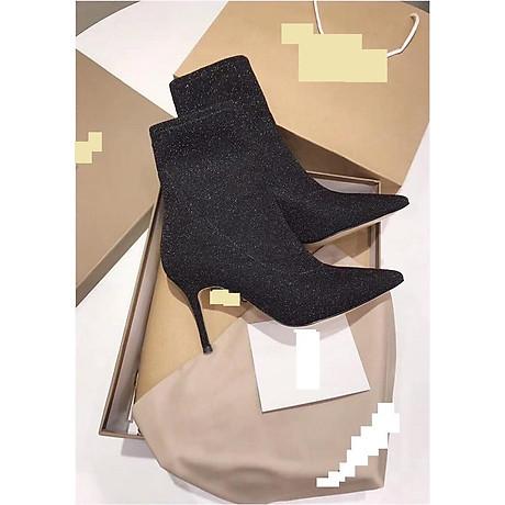 giày boots nhũ ánh kim tuyến cao gót 2