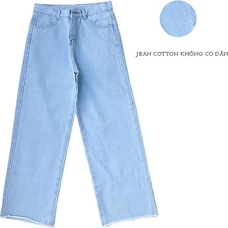 Quần Jean Nữ Ống Rộng Cotton 9 Tất (từ 45kg-56kg) 4