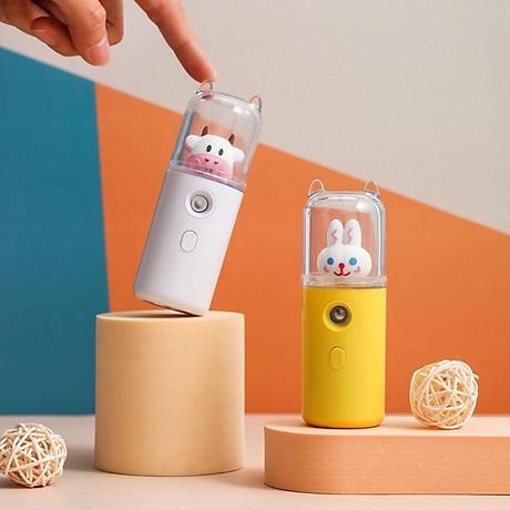 Máy Phun Sương Nano Mini Cầm Tay Bò Sữa 30ml, Hỗ Trợ Xịt Khoáng Cấp Ẩm, Sạc USB Nhỏ Gọn Tiện Lợi 5