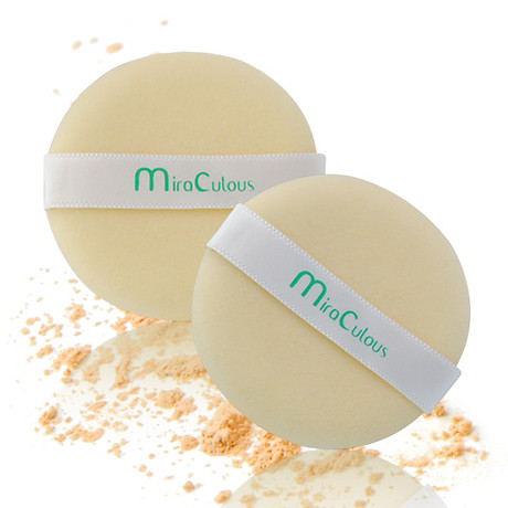 Bông phấn trang điểm tròn khô cotton Mira Culous bịch 1 miếng tặng kèm móc khóa 1 túi - 1 miếng 2