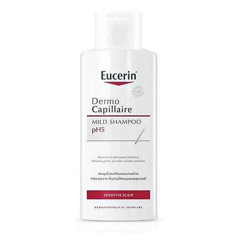 Dầu Gội Cân Bằng pH Cho Tóc Eucerin Dermo Capillaire pH5 Mild Shampoo (250 ml) 1