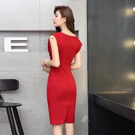 Đầm ôm đỏ cổ đổ ( dưới 60kg ) MAI017 3