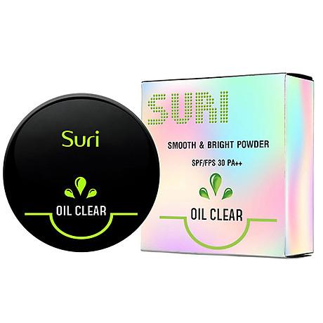 Phấn Trang Điểm Suri Oil Clear Smooth & Bright Powder Hàn Quốc 12g No.21 Da tự nhiên tặng kèm móc khóa 3