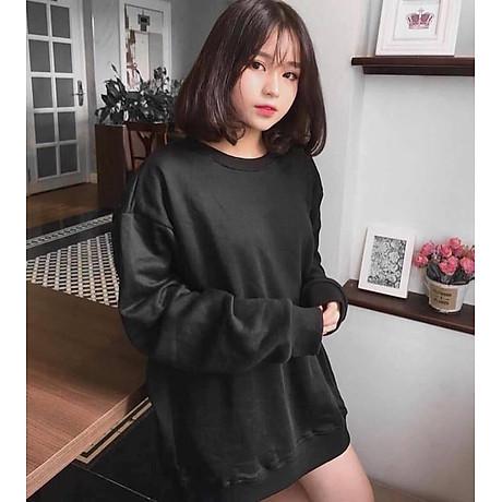 Áo Sweater Nam Nữ Nỉ Bông Trắng (Đen) Trơn Thời Trang Cao Cấp 1