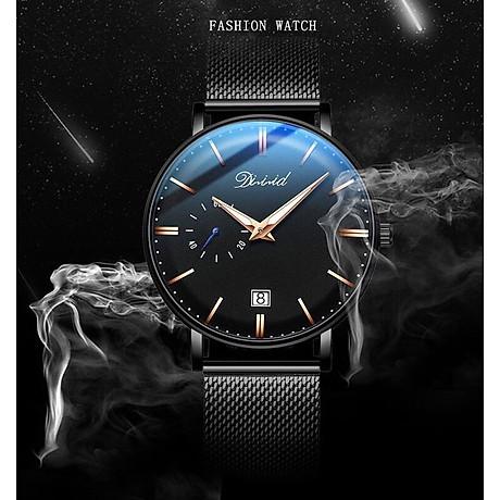 Đồng hồ nam cao cấp DIZIZID Dây Titanium Chạy Full 3 Kim Và Lịch Ngày - High Fashion Design DIZ3KD9 4