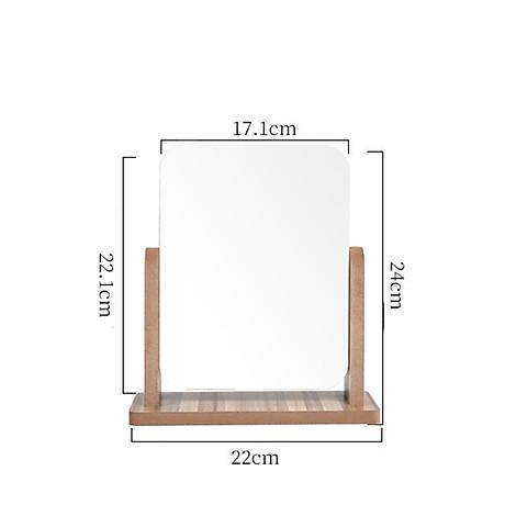 Gương trang điểm cao cấp chất liệu gỗ ép, điều chỉnh góc nhìn 360 độ loại lớn 8