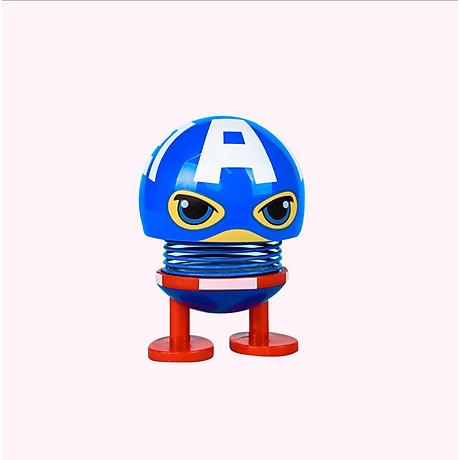 Set 6 thú nhún Emoji lò xo siêu anh hùng 3