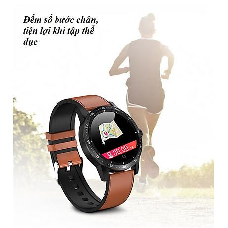 Đồng hồ thông minh đo nhịp tim, huyết áp T5 ( Sang trọng, độc đáo ) - Hàng Nhập Khẩu - Dây thép đen 5