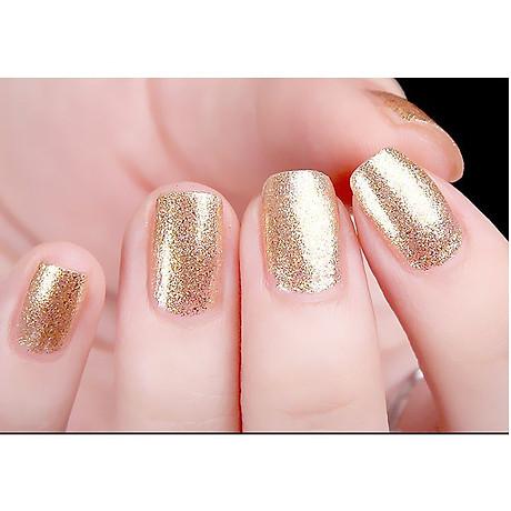 Sơn móng tay Aroma Nail Polish Hàn Quốc 12ml 63 lấp lánh vàng tặng kèm móc khóa 5