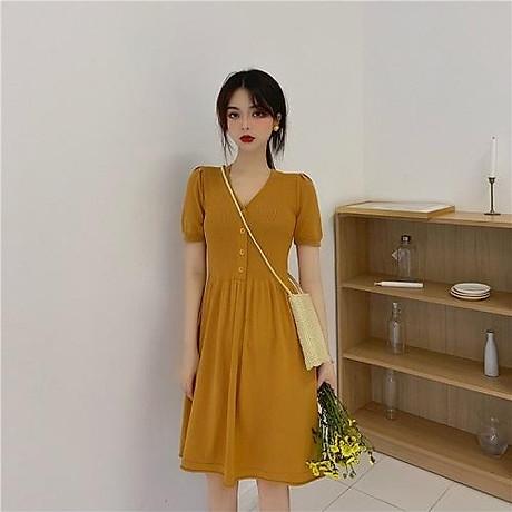 Váy len tay bồng 3