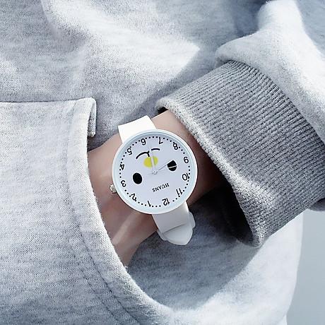 Đồng hồ thời trang nam nữ Huans Hmc1. hình mặt cười dây silicon. 5