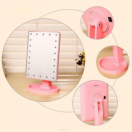 Gương Trang Điểm Đèn Led Để Bàn Hình Chữ Nhật 3