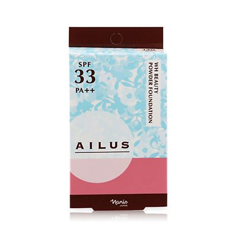 Phấn nền sáng da Naris Ailus WH Beauty Powder Foundation Nhật Bản 10g + Móc khóa 6