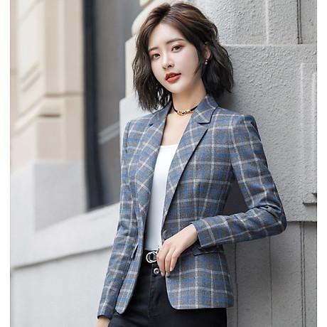 Áo khoác vest nữ caro phong cách Hàn Quốc NA66 2