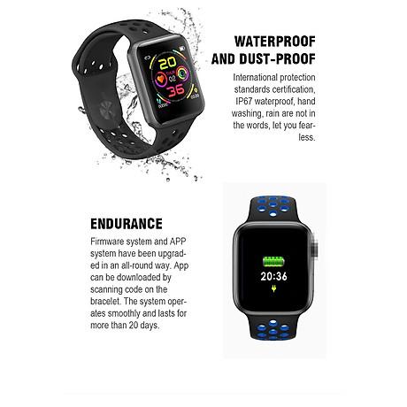 Đồng hồ thông minh Smart Watch theo dõi sức khỏe Watch 5 theo dõi nhịp tim vận động ( Giao màu ngẫu nhiên) 5