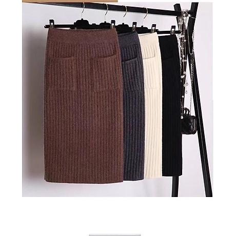 Chân váy bút chì chất len tăm cao cấp form chuẩn kèm quần lót chất thun lạnh ko ngấn 4