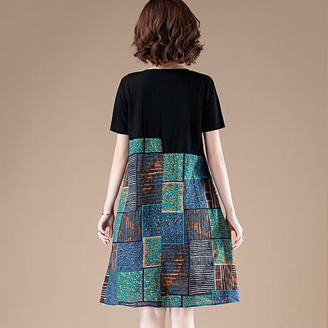 Đầm suông phối họa tiết nữ Haint Boutique Da76 2