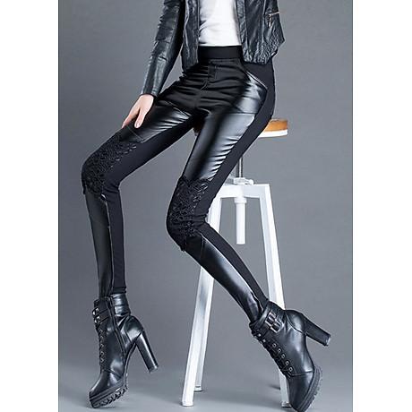 Quần legging nữ ren phối thun 106 2