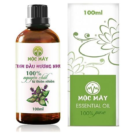 Tinh dầu Hương Nhu 100ml Mộc Mây - tinh dầu thiên nhiên nguyên chất 100% - chất lượng và mùi hương vượt trội - chuyên gia chăm sóc tóc hư tổn 1