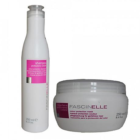 Bộ dầu gội dưỡng màu và kem ủ xả dưỡng màu cho mái tóc nhuộm Fascinelle ( Ý) - DMC013 1
