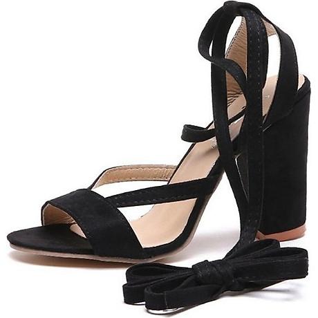 Giày cao gót đế vuông 10 phân quấn dây S082 2