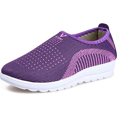 Giày lười nữ phong cách êm chân thoáng khí (full size full box) - chữ V - Size 36 đến 40 - V124 7