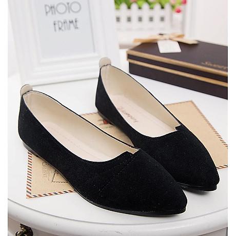 Giày đế bằng búp bê nữ da lộn full size nhiều màu V215 5