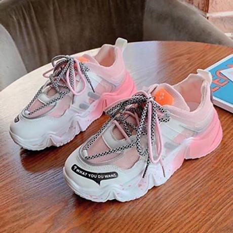 Giầy thể thao nữ Sneaker đế màu cực cá tính 2020 2