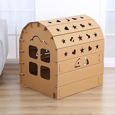 Nhà bìa đồ chơi - Nhà giấy vòm carton 100% bột gỗ - Ngôi nhà bóng cho bé thỏa sức vui chơi [ trẻ em dưới 12 tuổi] 4