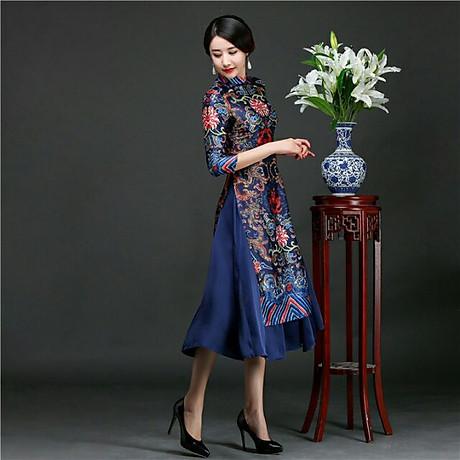 Set áo dài cách tân kèm váy thổ cẩm BY2004A 3